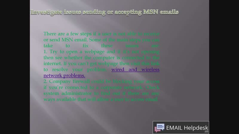 MSN investigation issues