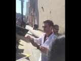Chris Hemsworth at Jimmy Kimmel Live in L.A.