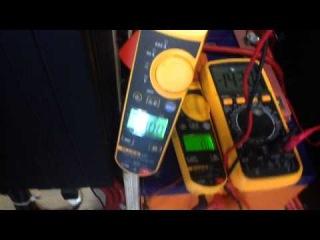 Замер звукового давления усилителя ARIA AP-D1000. Подключение в 1 Ом мощность усилителя GAIN 3/4