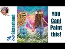 2 Sisters in Daisys step by step Painting in acrylic Live Streaming