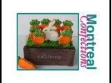 Easter gift basket - decorated cookies (Пасхальный зайчик с морковкой).