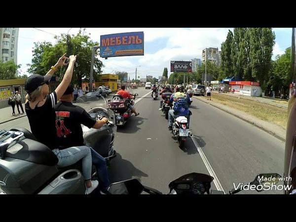 Yamaha fz6 .Колонна Одесса goblin show 2018