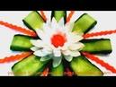 Шикарный цветок из лука - Украшения из овощей Карвинг лука - Как красиво оформить стол