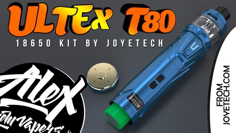 ULTEX T80 18650 Kit l by Joyetech l Alex VapersMD review 🚭🔞