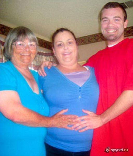 72-летняя Перл Картер, жительница Индианы, познакомилась со своим внуком, 2