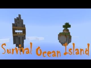Обзор карты minecraft #45 - Survival Ocean Island!