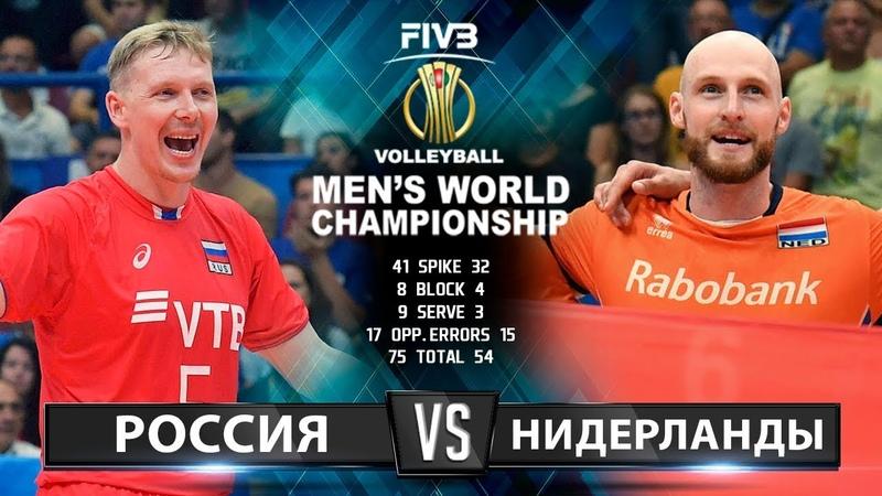 Волейбол | Россия vs. Нидерланды | Чемпионат Мира 2018 | Лучшие моменты игры