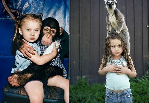 Маленькая дочка в мире животных. Арт-проект Amelia's world от Робин Шварц U7RLRDlgdf4