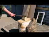 Тестирование мачете из стали 65Х13 «Мачете №2» видео