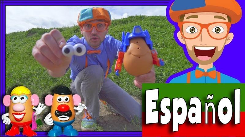 Cabezas de Patata con Blippi Español en la Granja | Videos para Niños