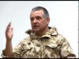 Добровольно-принудительная встреча с народом, Константина Матейченко-оккупанта и уголовника с тремя отсидками, в Артёмовске  8 июля 2014.