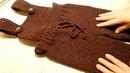 Вязание спицами для детей штаны полукомбинезон от 1 до 3 лет