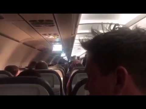 ENGLAND FANS FIND OUT COLOMBIA RESULT 30,000 FT IN THE AIR!! AIRLINE PILOT TELLS FANS RESULT
