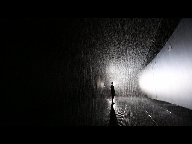 Rain Room at the Barbican, 2012