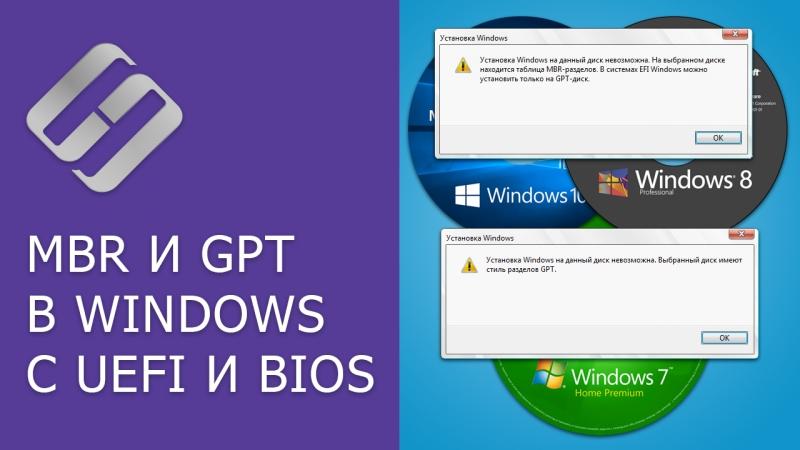 Преобразование MBR и GPT дисков: можно ли установить Windows на GPT, MBR диск в EFI и BIOS? 📀💻