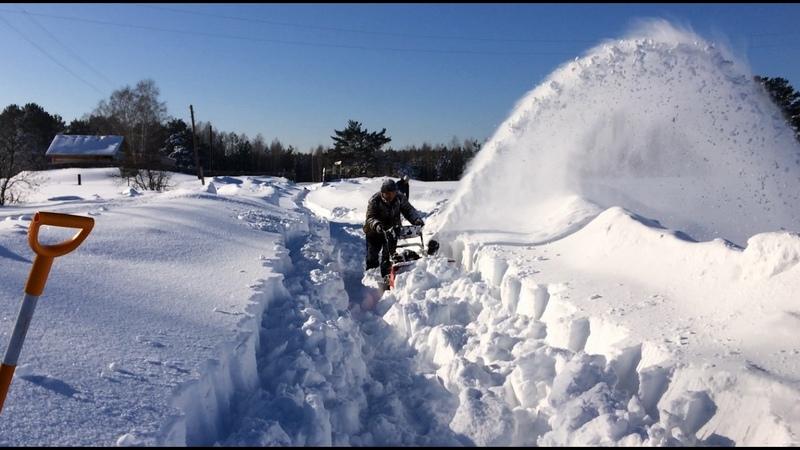 Выбираем снегоуборщик. Тест-драйв MTD 660g в реальных боевых условиях - 7 зим на убой