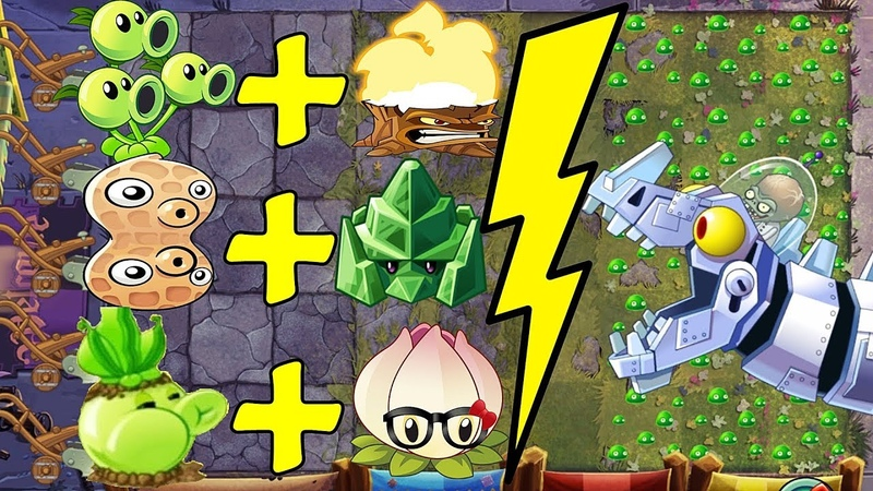 Plants vs Zombies 2 BattleZ Threepeater Pvz 2 Vs Zombot Dinotronic Mechasaur.
