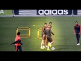 Cristiano Ronaldo Great Touches in Real Madrid training before match against BVB