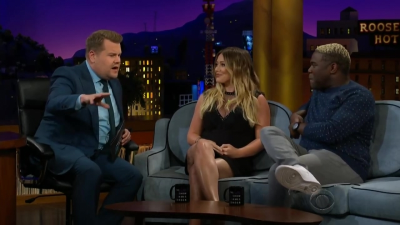 Hilary Duff Is Having a Baby Girl and Her Son Has a Name | The Late Late Show with James Corden | 11062018