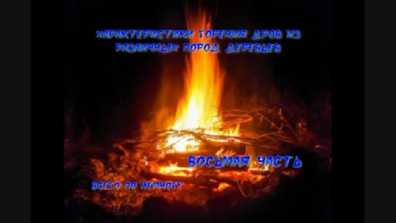 характеристики горения дров из различных пород дерева часть восьмая.