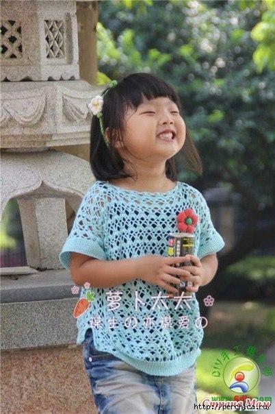 детская кофточка крючком. (2 фото) - картинка