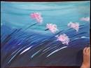 3 Gabriela Mensaque pintando flores con Acrílicos Profesionales Lautrec Manos a la Obra