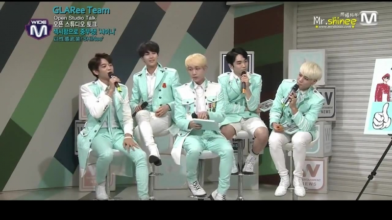 131017 Mnet Wide News Open Studio with SHINee (руссаб) [720]