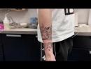 Тату-мастер Катя Маслова (flowers bracelet tattoo) | Тату - студия Дом Элит Тату (Tattoo Studio Moscow)