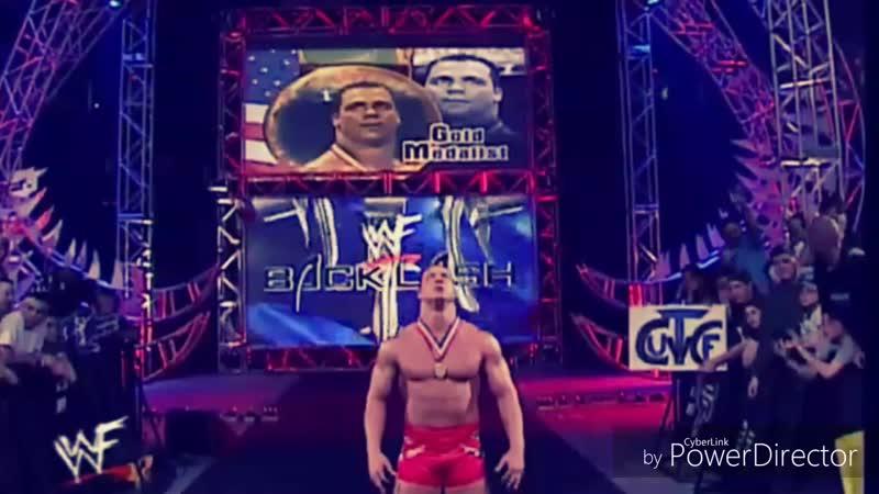 |WM| Kurt Angle vs Chris Benoit - Backlash 2001 - Highlights