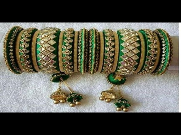Latest Collection Of Bridal Silk Thread Bangles