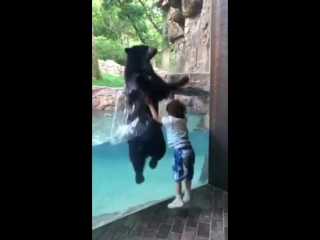 Just two friends jumping around..