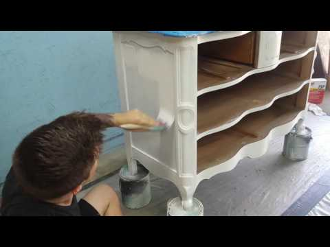 Painting, Staining, and Wood Stain Glazing a Provincial Dresser