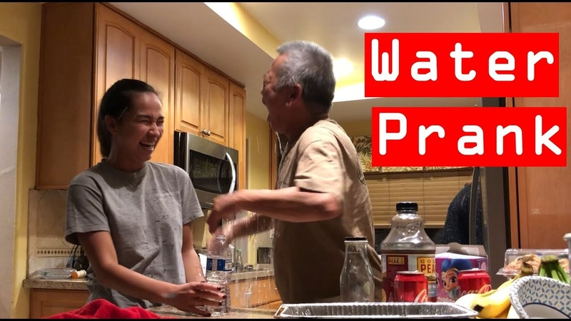 WATER PRANK ON MY DAD | Kylie Moy
