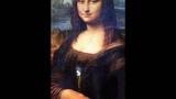 Живая Мона Лиза.Она моргала и улыбалась