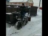 Отвал для снега из газового баллона