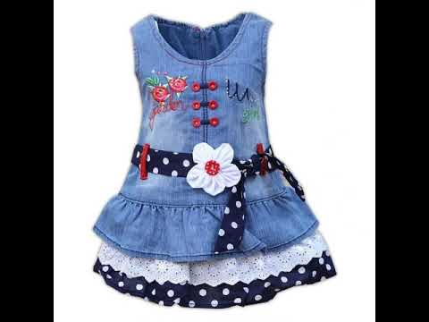 Stylish And Modern Style jeans frocks\baby frocks FOr Girls