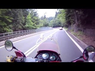 przejazd przez Szklarską Porębę Kawasaki KLE 500