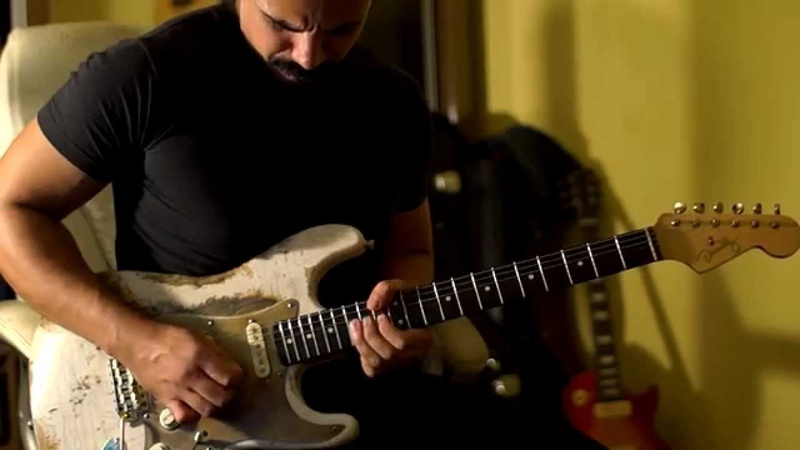 Pink Floyd - Another Brick In The Wall Solo Cover - Stratocaster vs Les Paul P90