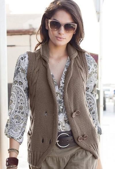 Женское вязание кардиганы и жилеты