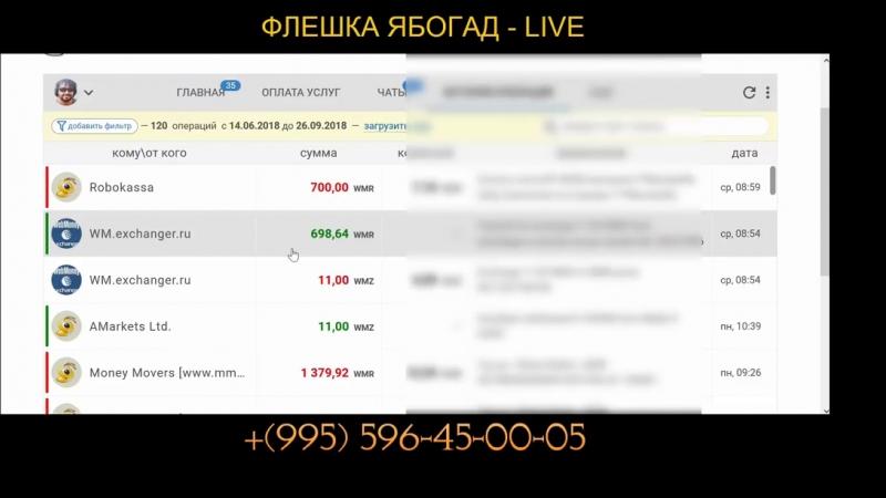 ФЛЕШКА ЯБОГАД - LIVE ПРЯМОЙ ЭФИР НОВЫЙ КУРС,Как заработать на прямых эфирах, нажав одну клавишу glprt.ru/affiliate/10