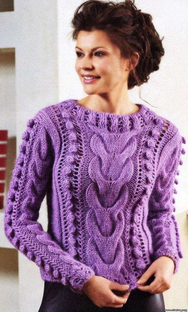 Связать свитер красивый 9