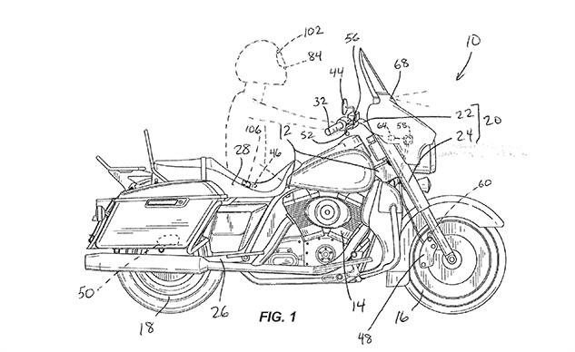 Компания Harley-Davidson патентует систему автоматического экстренного торможения