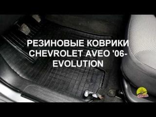 Обзор ковриков в салон Chevrolet Aveo '06-11 - Резиновые коврики в салон Evolution