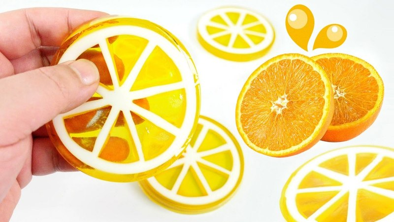 How To Make Orange or Lemon Gummy Jello Slices | MonsterKids