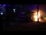 В Иванове горит авто