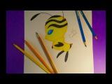КВАМИ ПЧЕЛА kwami bee-леди баг и супер кот.уроки.speed drawing.how to draw.nas