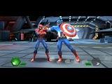 Человек паук и Росомаха икс против супер героев мультфильм игра, видео для детей...