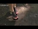 Crush snail Marina sandals in park