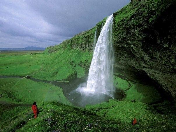 Водопад Селйяландсфосс , Исландия.