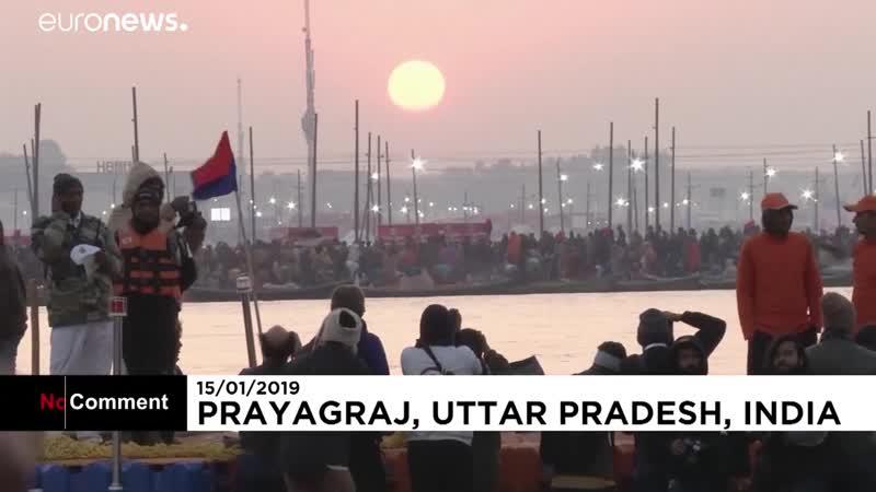 Празднование Кумбха мела в Индии